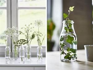 Bouteille En Verre Ikea : bouteilles bocaux flacons recycl s en vases pour votre d co ~ Teatrodelosmanantiales.com Idées de Décoration