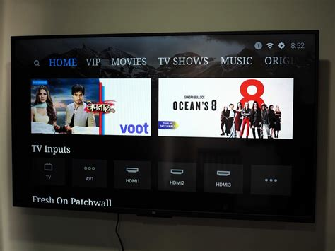 xiaomi mi led tv  pro preview android tv  patchwall
