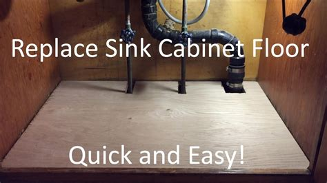 replace kitchen sink cabinet floor replace sink cabinet floor 7733