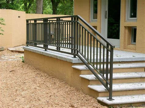 outdoor banister exterior railing gainesville iron works decoration