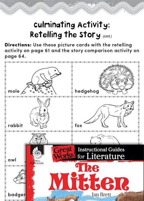 mitten post reading activities teachers classroom