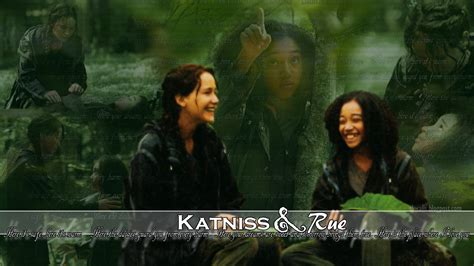 how was rue in the hunger katniss rue the hunger games wallpaper 31000209 fanpop