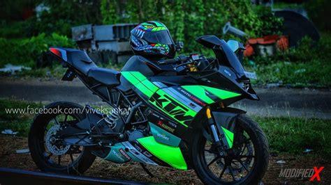 Modification Ktm Rc 250 modified ktm rc200 green viper from kerala modifiedx