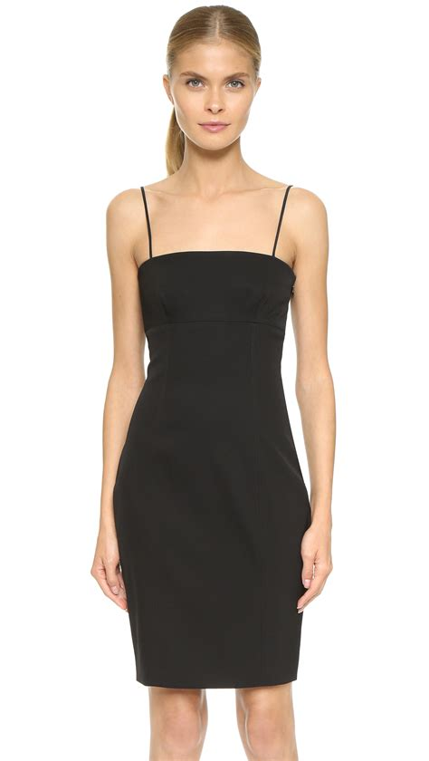 lyst alexander wang fitted knit panel dress nocturnal
