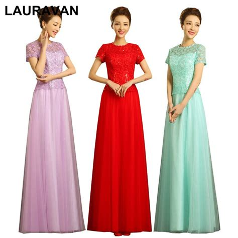 modest long chinese women bride style vintage  neck red