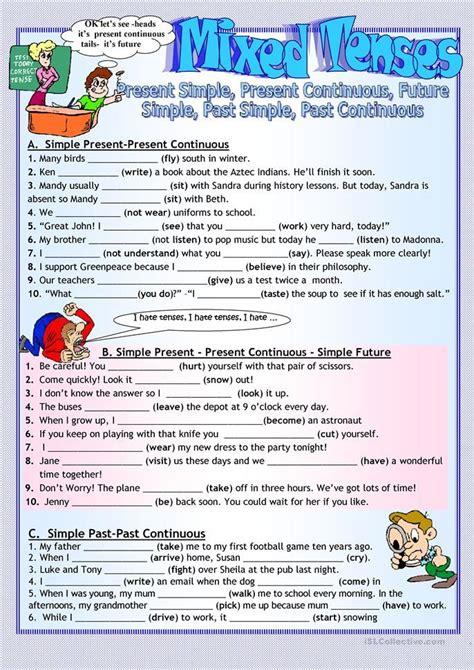 mixed tenses revision english grammar tenses english