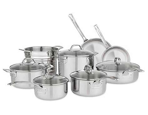 viking  piece tri ply cookware set  vented lids