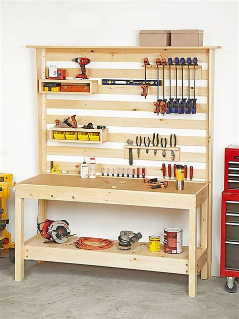 workbench  wall storage woodworking plan  wood
