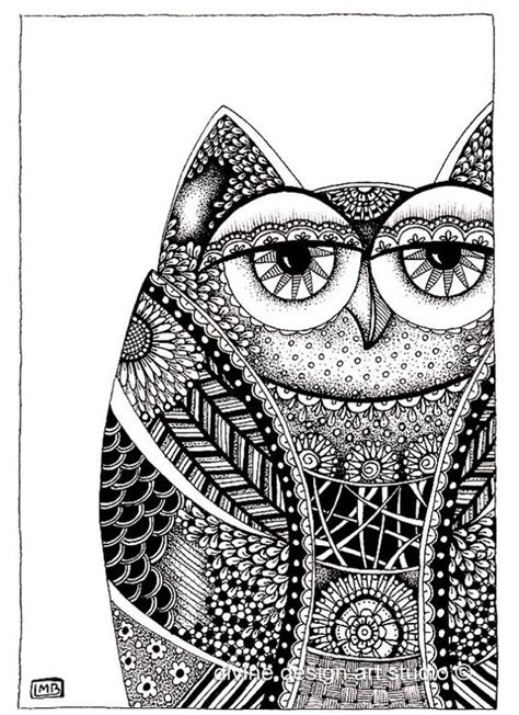 owl animal drawings  zentangles  pinterest