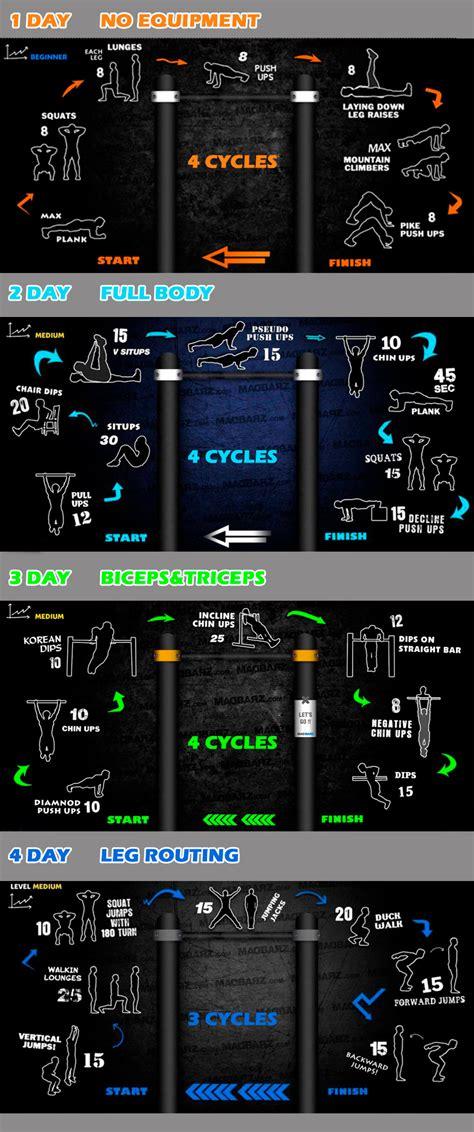 calisthenics workout start beginners routine program muscle