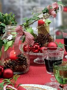 Basteln Mit Einmachgläser : weckgl ser als weihnachtliche windlichter tischdecke sander weihnachtsdeko pinterest ~ Markanthonyermac.com Haus und Dekorationen