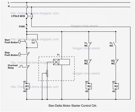 Block Diagram Starter Motor by Typical Circuit Diagram Of Delta Starter Plc Ladder