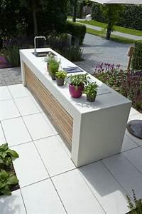 Garten Küche Ikea : outdoor k che gartenk che aus hellem sichtbeton ~ Lizthompson.info Haus und Dekorationen