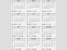 Kalender 2018 Med Helligdager takvim kalender HD