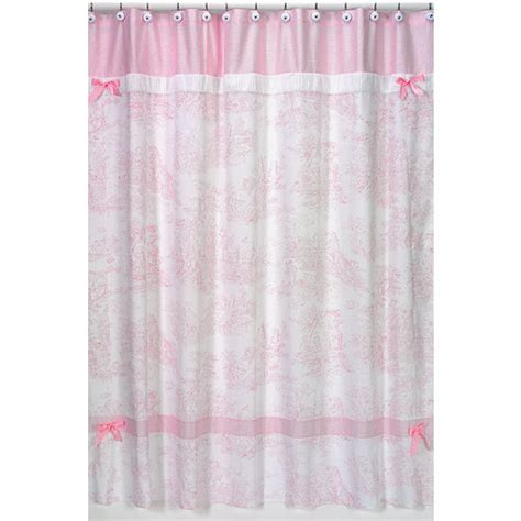 pink shower curtains pink toile fabric bath shower curtain designer