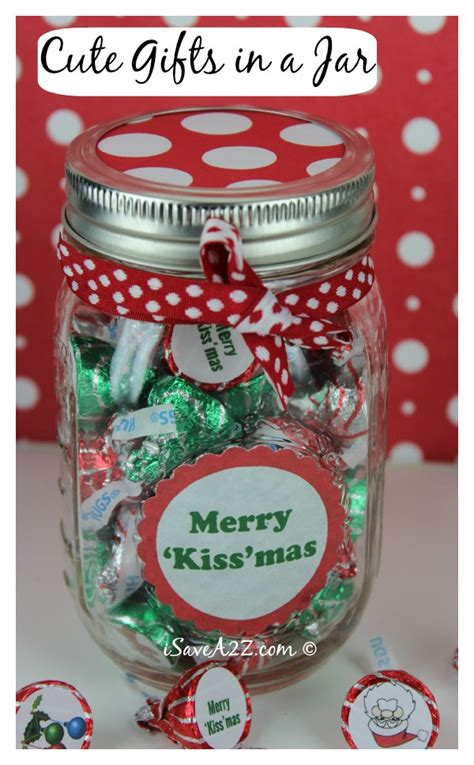 Unique Handmade Christmas Gifts 'kiss 'mas Gift In A Jar