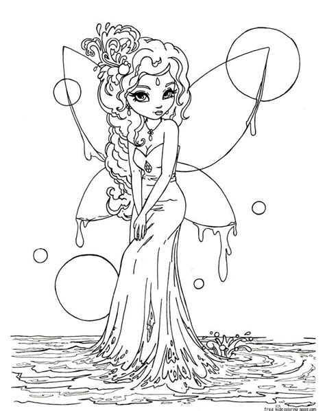 Printable Fantasy Coloring Pages For Adults Coloring Home