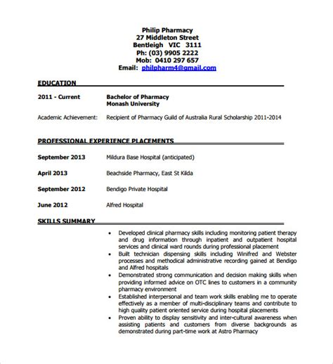 tech resume template word sle pharmacy technician resume 8 free documents in pdf word