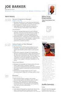 resume general manager operations general resume sles visualcv resume sles database