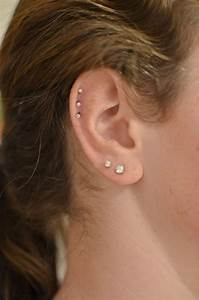 #ear #piercings #triple #cartilage | Ears | Pinterest