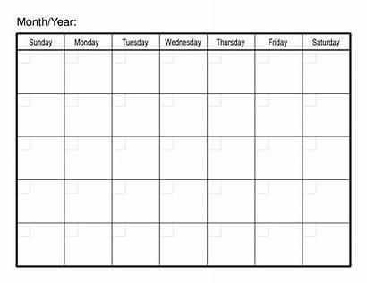 Calendar Blank Monthly Printable Pdf Calendars Templates