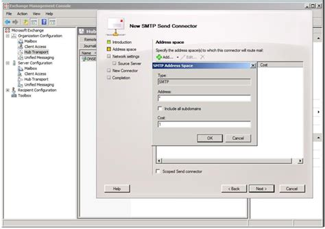 ms exchange smart host smtp authentication setup