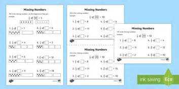 fractions missing numbers worksheet worksheets