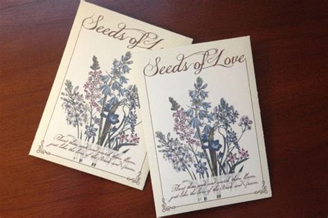 diy seed packet wedding favors the budget savvy