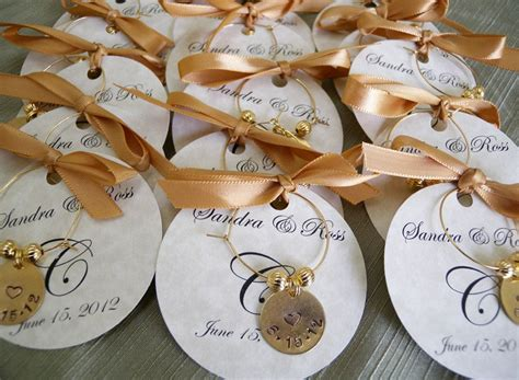 wedding favors personalized wine charms custom words