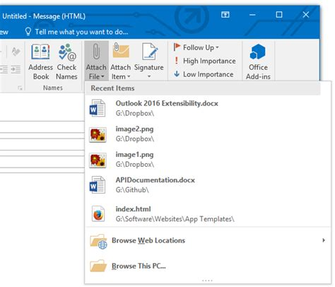 outlook 2016 email outlook 2016 extensibility