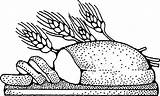Bread Coloring Pages Healthy sketch template