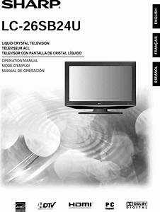 Sharp Lc 26sb24u User Manual Lcd Television Manuals And