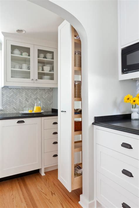 Pull Out Pantry Cabinet - Transitional - kitchen