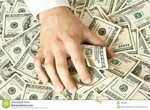 Greedy Hand Grabs Money Stock Image - Image: 7286081
