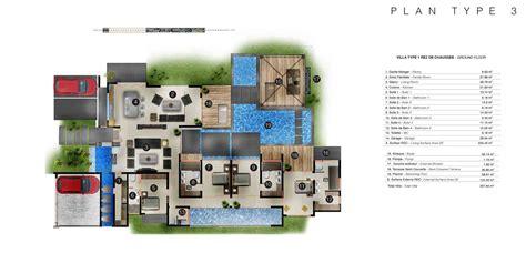 plan cuisine design les villas intemporelles plans des villas
