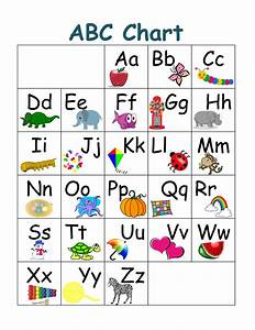 kindergarten alphabet chart printable With letter charts for kindergarten