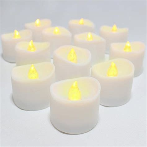 flameless tea lights with timer led lytes flameless candles set of 12 battery operated