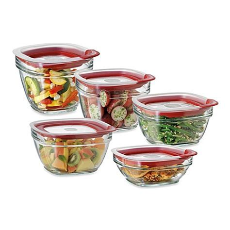 Rubbermaid® Glass Food Storage Containers with Easy Find