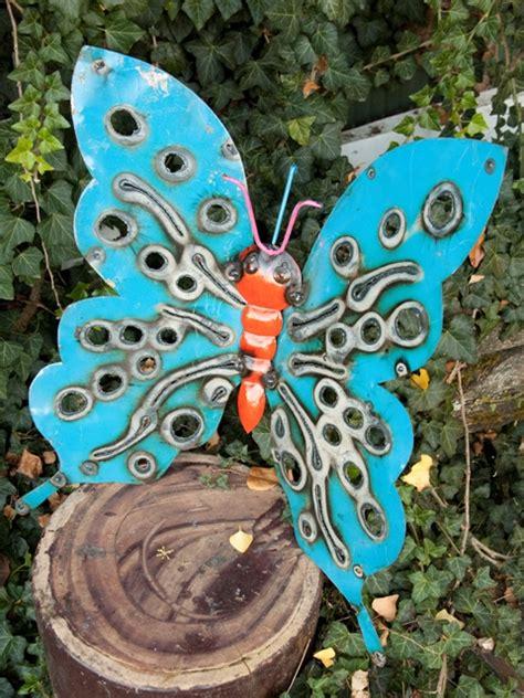 tin butterfly  lawn folk art butterfly decorations