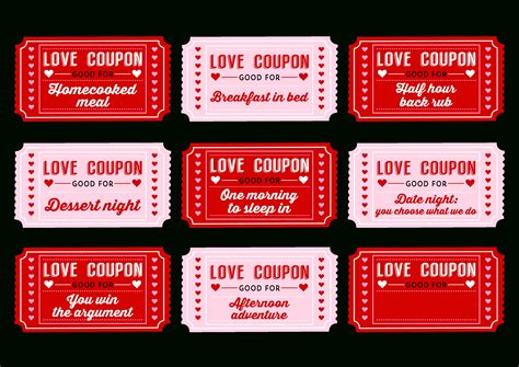 Printable Love Coupons Freepsychiclovereadingscom