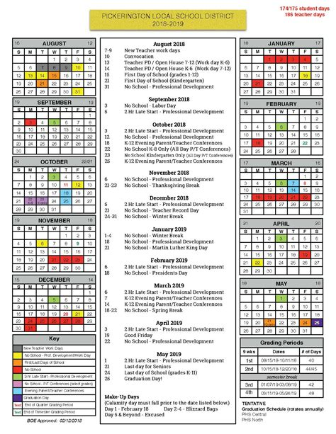 board education approves calendar pickerington local