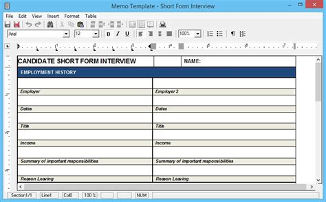 How To Make A Resumate by Form Questions As A Standard Memo