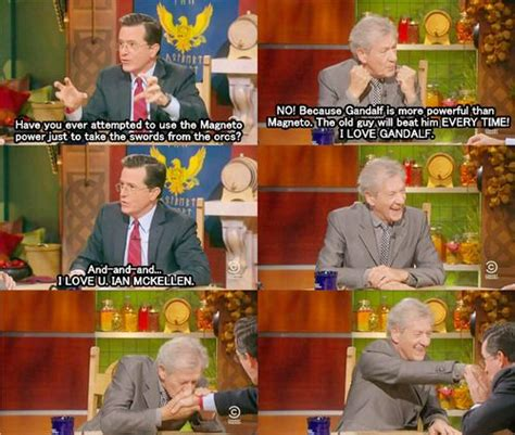 Sir Ian Mckellen On The Colbert Report.