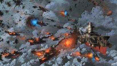Battle Anime Airships Steampunk Warfare Deviantart Digital
