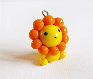 Polymer Clay Cute Yellow Lion Charm. $10.00, via Etsy ...