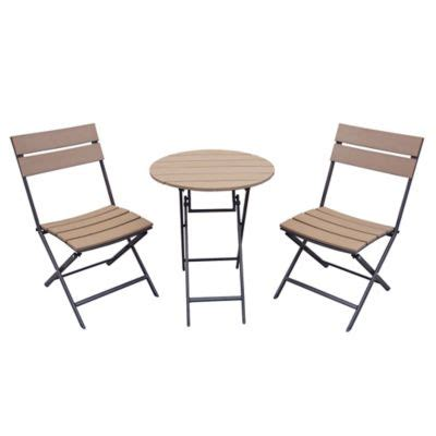 Lawn Table And Chairs by Metro 3 Folding Outdoor Bistro Set Bed Bath Beyond