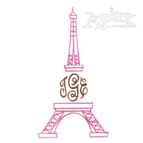 paris eiffel tower embroidery design
