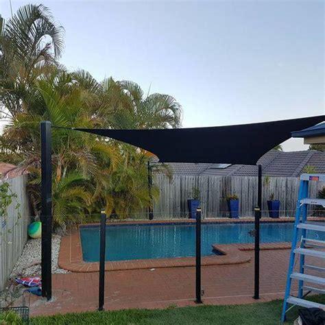 pool shade solutions pool shade sail photo creative shade solutions north lakes qld