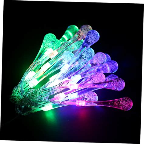 20 led water drop string lights led fairy light for
