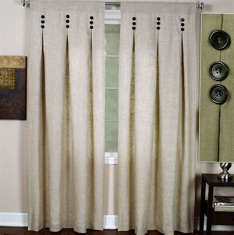 pinch pleat curtains  buttons home design ideas